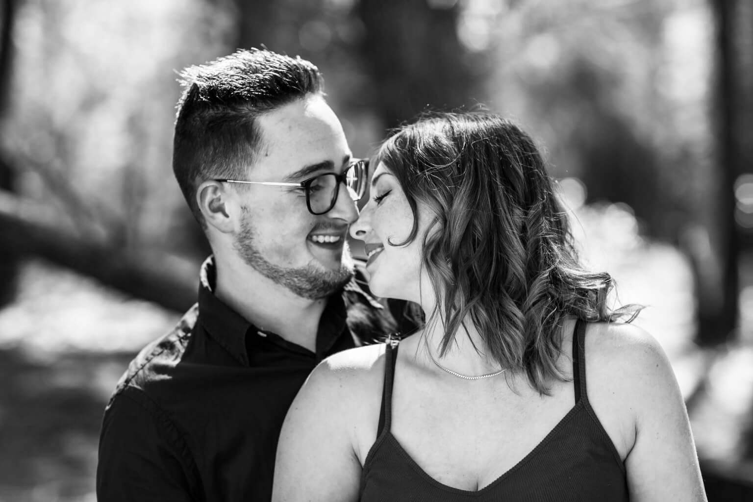 Shooting photo couple noir et blanc Chateauneuf ls Martigues