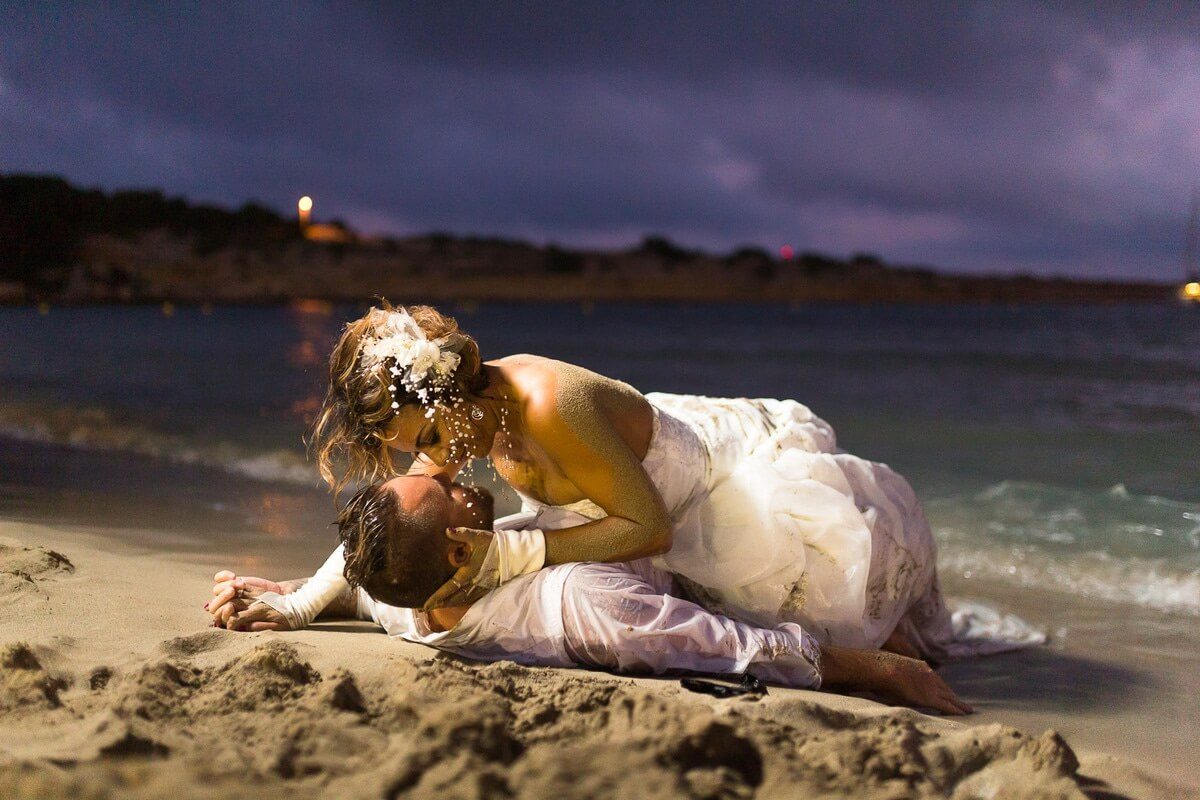 Photographe mariage Bouches-du-Rhône photo de mariée à la plage